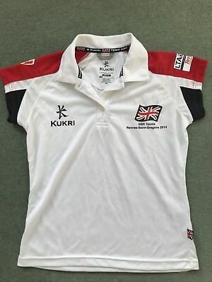 KUKRI Team GB Women's Polo T Official Team Kit UK size 10 mainly White