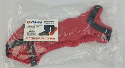 NEW PAWS Red Strap-On Spaghetti Loop Wax Floor Stripping Shoes (1 PAIR) 13071