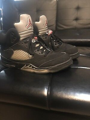 582bb61897c 2016 Nike Air Jordan 5 V Retro OG Black Metallic Silver size 13 100%  Authentic
