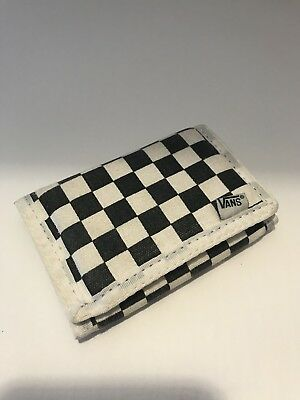 Vans Off The Wall Checkered B/W Wallet Board Style Vintage? GUC