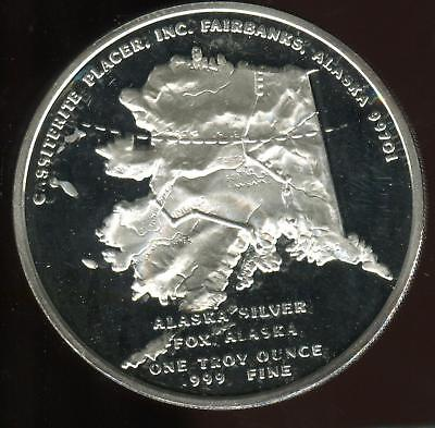 Fox Alaska | .999 1oz  Silver Round | Proof | 'In Silver we Trust"