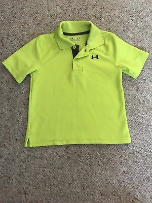 Under Armour Toddler Boys Polo Shirt Bright Green Size 2T
