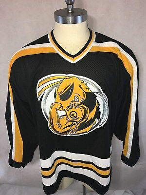 CCM Ski-Doo X-Team Muscle BUMBLE BEE HOCKEY JERSEY Size Large L Black