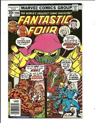 Fantastic Four # 196 (Invincible Man, July 1978), Vf/nm