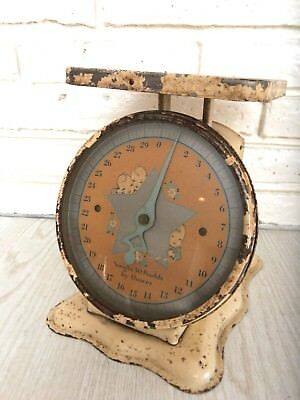 Vintage Mid Century Baby Nursery Scale 30 lbs. by Ounces Photography Prop