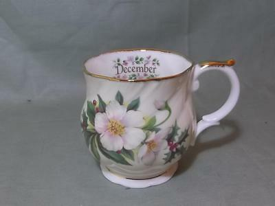 """Queens China """"Flowers of the Month"""" Small Mug for December"""