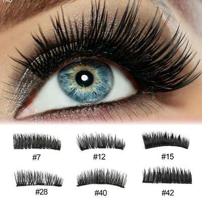 Triple Magnetic False Eyelashes 3D Natural Handmade Extension Eye Lashes Makeup