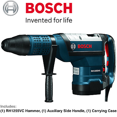 """NEW Bosch RH1255VC SDS-Max Rotary 2"""" Hammer Drill Corded 15 Amp w/ Carrying Case"""