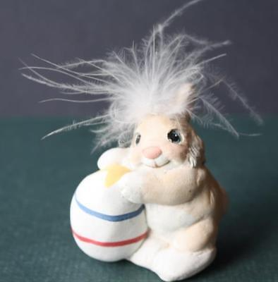 Dreamsicles Easter Bunny Rabbit w-Funky Hair and Easter Egg Collectible Figurine
