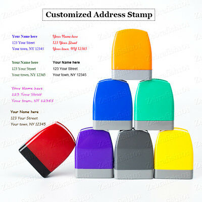 Fast Shipping! Personalized Self-inking Return Address Stamp Self-ink Customized