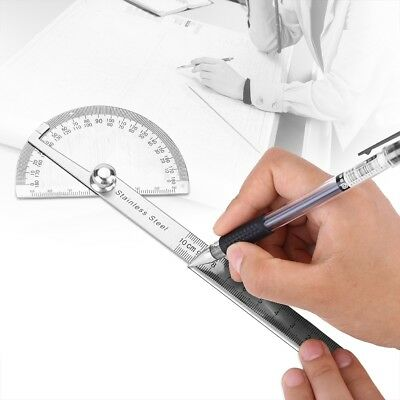 Stainless Steel 180 degree Protractor Angle Finder Arm Measuring Ruler Tool SG