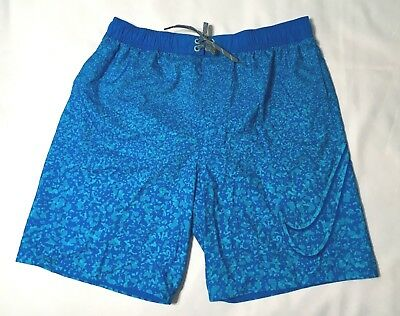 "1fa99986c2 Nike 9"" Volley Men's Swim Trunks Board Shorts NESS7436 Blue Size L XL NWT"