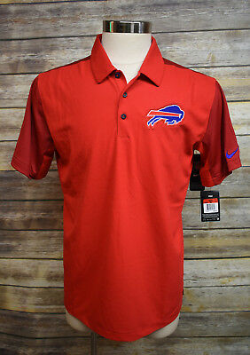 NEW NIKE DRI-FIT Onfield Buffalo Bills Polo Shirt Red Large -  35.00 ... c15f65a48
