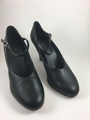 So Danca CH53 Black Buckle Strap PU Character Dance Stage Shoes 3 inch US 9.5M