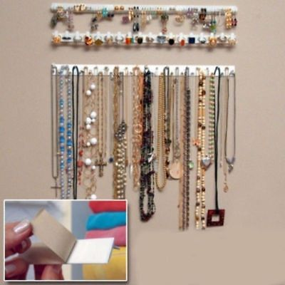 Earring Necklace Hanger Holder Display Jewelry Rack Sticky Hook Wall Mount US