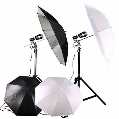 "Portable 2x32"" Photography Studio Umbrella Flash Strobe Lighting Light Stand Kit"