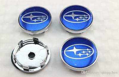 4Pcs Wheel Center Hub Cap For Subaru Blue 60 MM Forester Impreza Legacy