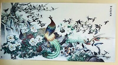 Chinese Lucky and wealthy birds and Flower picture.