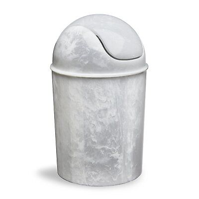 Mini Waste Can Trash Bin Garbage Small Bathroom Space Toilet Area Bedroom White