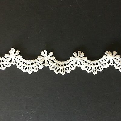 1m Ivory Scalloped Daisy Lace 2cm Trim Tutu Dance Stage Costume Sewing Craft