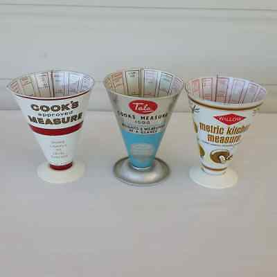 Tala Cook's Dry Measure - Lot of 3 - Aluminium Vintage Retro Kitchenalia