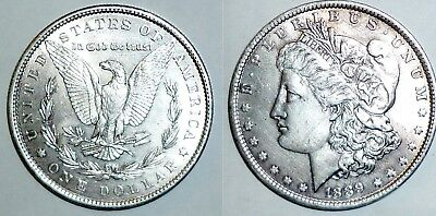 1889 US Silver Morgan Dollar. 'CLEANED' See Photos