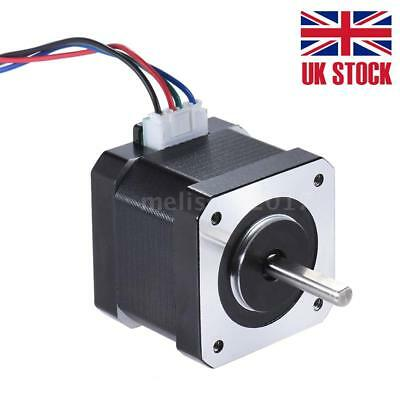 CNC Nema 17 Stepper Motors 0.4N.M 0.9A 4-Lead 90cm Lead Cable for DIY 3D Printer