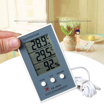 LCD Digital Weather Thermometer Hygrometer In / Out Temperature Humidity Meter