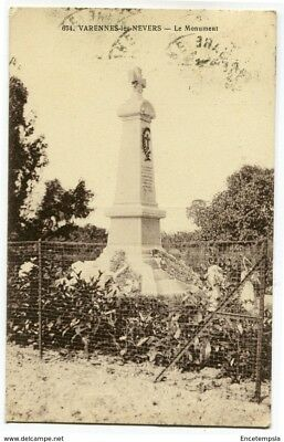 CPA - Carte postale- France -  Varennes-les-Nevers - Le monument - 1922 (CP3401