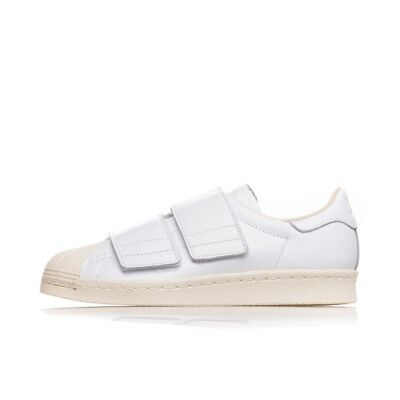 huge discount 29e42 a5e2a ADIDAS SUPERSTAR 80s CF CQ2447 bianche slip on logo fashion strappi velcro  limit