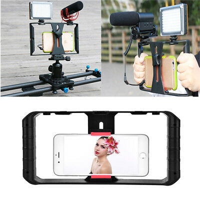 """Video Camera Cage Stabilizer Film Making Rig for iPhone Samsung 4~7"""" Smart Phone"""