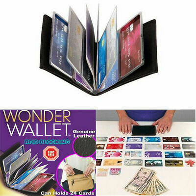 Wonder Wallet Amazing Slim  Leather Wallet RFID Protection As Seen on TV