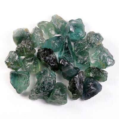 46.38 Ct.20 Pcs. Forest Green Apatite Rough Natural Gemstone Unheated Free Ship