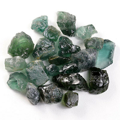46.81 Ct.20 Pcs. Forest Green Apatite Rough Natural Gemstone Unheated Free Ship