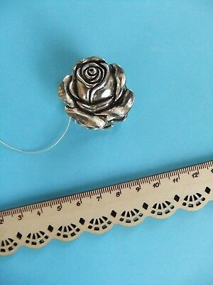 Old ROSE SILVER Thread Winder Knotting Tatting Shuttle Good Condition