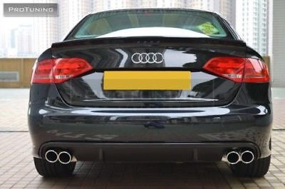 For Audi A4 B8 Rear Bumper Spoiler Diffuser Addon S Line Look Quad Exhaust