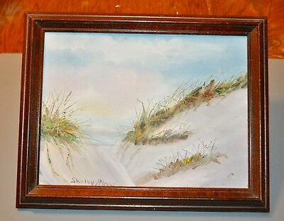 Framed Original Oil painting Sand Dunes by Susan Palmer seascape beach ocean