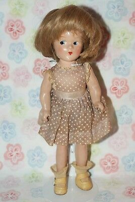 "BEAUTIFUL! Vintage Little 9"" Madame Alexander Wendy Ann Tagged Composition Doll"