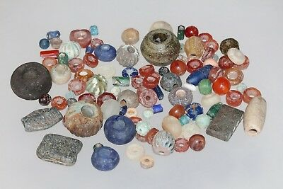 Lot of 100 Mix Civilization Ancient Beads circa 2000 To 500 BC