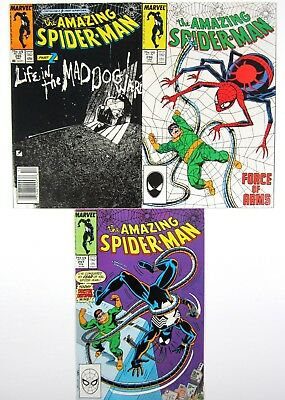 Amazing Spider-Man #295 #296 #298 All VF or Higher Symbiote Marvel Comics