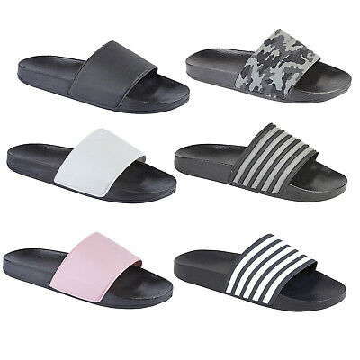 64584baa537c Mens Sports Summer Pool Beach Shower Slippers Slider Flip Flops Sandals  Sliders