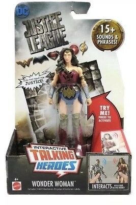 DC Comics Justice League Talking Heroes 6 inch Action Figure - Wonder Woman NEW