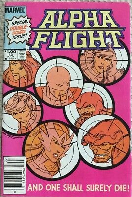 Marvel Alpha Flight #12 Comic July 1984