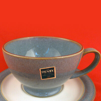 "STORM GREY by Denby Tea Cup 2.75"" tall  NEW NEVER USED made in England"