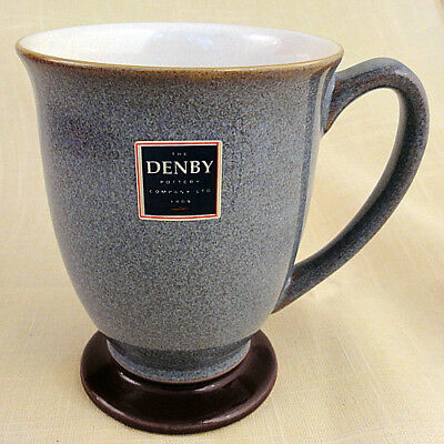 "STORM PLUM by Denby Mug Footed 4"" tall NEW NEVER USED made in England"
