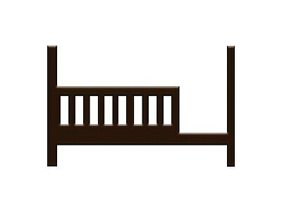Toddler Bed Kit Safety Rail for Young America Cribs - Espresso