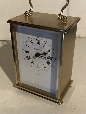 BRASS QUARTZ CARRIAGE CLOCK BY WEISS CLOCKS LTD. Reading Ew Payne