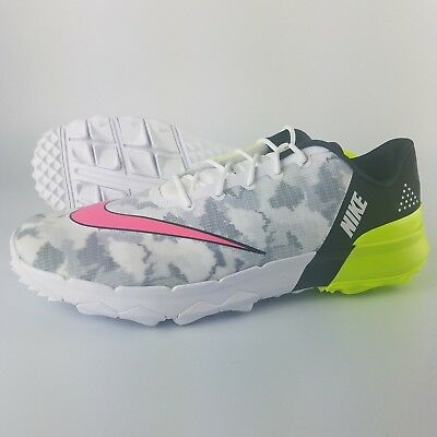 pretty nice 12c3c 35f0a Nike FL Flex Men s Size 11 Golf Shoes White Racer Pink Volt Black 849960-101