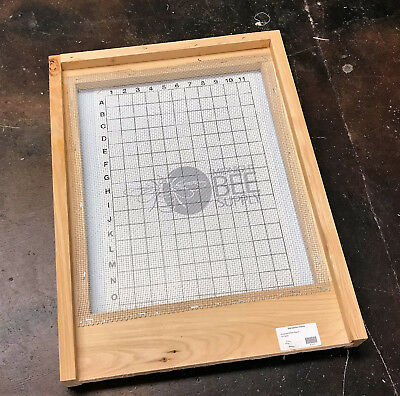 Beehive Screened Bottom Board -10 Frame Hive with IPM Board -  FREE SHIPPING