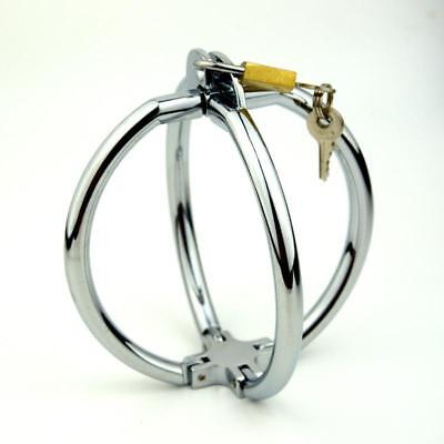 métal Chrome menottes Cross Handcuffs Lockable Wrist Restraints Shackle UA17